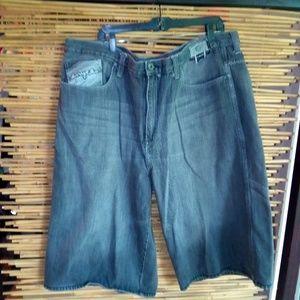 ENYCE Black Jean Shorts Sz 46